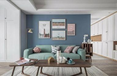 【佳天下装饰】 清新细腻北欧风格三居室装/三室两卫/80/总价:10.66万元