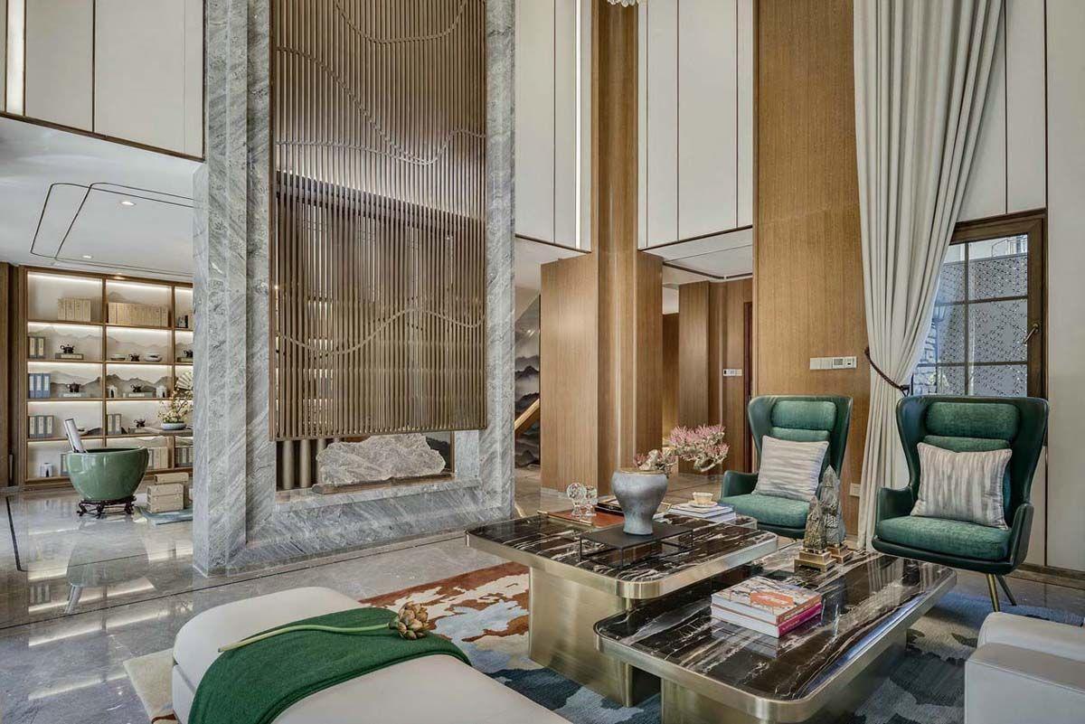 项目案例【重庆艺百年国际设计中式风格