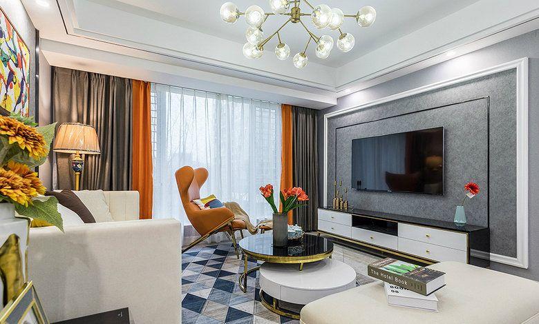 项目案例【佳天下装饰】现代轻奢风三居室装修设计