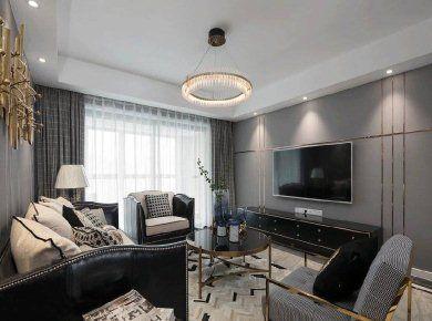 美式轻奢风格家居装修设计,高级灰色调营造